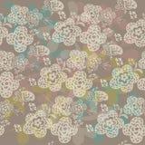 Άνευ ραφής floral πρότυπο με τα χαριτωμένα λουλούδια Στοκ Φωτογραφία