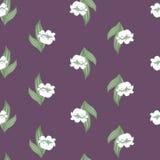 Άνευ ραφής floral πρότυπο με τον κρίνο της κοιλάδας Στοκ φωτογραφία με δικαίωμα ελεύθερης χρήσης