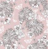 Άνευ ραφής floral πρότυπο απεικόνιση αποθεμάτων