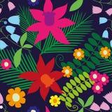 Άνευ ραφής floral πρότυπο Στοκ Εικόνες