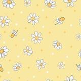 Άνευ ραφής floral σχέδιο με τα chamomile λουλούδια απεικόνιση αποθεμάτων