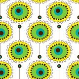 Άνευ ραφής floral σχέδιο στο Σκανδιναβικό ύφος διανυσματική απεικόνιση