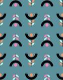Άνευ ραφής floral σχέδιο στο Σκανδιναβικό ύφος ελεύθερη απεικόνιση δικαιώματος
