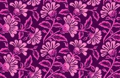 Άνευ ραφής floral σχέδιο σχεδίου απεικόνιση αποθεμάτων