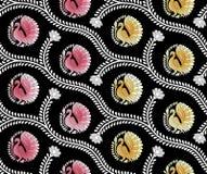 Άνευ ραφής floral σχέδιο peacock διανυσματική απεικόνιση