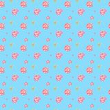Άνευ ραφής floral σχέδιο watercolor με τα ρόδινα peonies απεικόνιση αποθεμάτων
