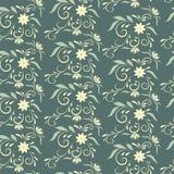 Άνευ ραφής floral σχέδιο για την ταπετσαρία ή το ύφασμα Στοκ Εικόνες