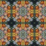 Άνευ ραφής floral σχέδιο, ελαιογραφία Στοκ Φωτογραφία