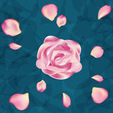 Άνευ ραφής floral σχέδιο με τα τριαντάφυλλα στο ελαφρύ υπόβαθρο, watercolor Στοκ Φωτογραφίες