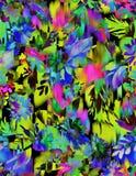 Άνευ ραφής floral σχέδιο με το ikat Στοκ εικόνα με δικαίωμα ελεύθερης χρήσης
