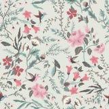 Άνευ ραφής floral σχέδιο νεράιδων ελεύθερη απεικόνιση δικαιώματος