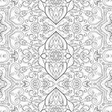 Άνευ ραφής floral σχέδιο περιλήψεων Στοκ φωτογραφίες με δικαίωμα ελεύθερης χρήσης