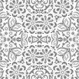 Άνευ ραφής floral σχέδιο περιλήψεων Στοκ φωτογραφία με δικαίωμα ελεύθερης χρήσης