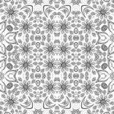 Άνευ ραφής floral σχέδιο περιλήψεων Στοκ Εικόνες