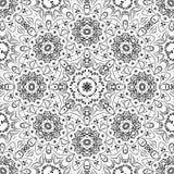 Άνευ ραφής floral σχέδιο περιλήψεων Στοκ εικόνες με δικαίωμα ελεύθερης χρήσης