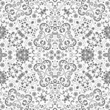 Άνευ ραφής floral σχέδιο περιλήψεων Στοκ Εικόνα