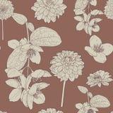 Άνευ ραφής floral σχέδιο σοκολάτας διανυσματική απεικόνιση