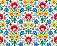 Άνευ ραφής floral σχέδιο στιλβωτικής ουσίας - εθνική καταγωγή ελεύθερη απεικόνιση δικαιώματος