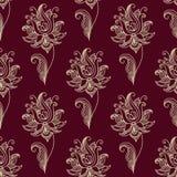 Άνευ ραφής floral σχέδιο του Paisley Στοκ Εικόνες