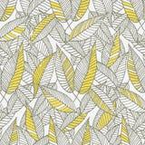 Άνευ ραφής Floral σχέδιο φύλλων Στοκ Φωτογραφία