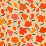 Άνευ ραφής floral σχέδιο Στοκ εικόνα με δικαίωμα ελεύθερης χρήσης