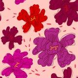 Άνευ ραφής floral σχέδιο peony Ελεύθερη απεικόνιση δικαιώματος