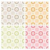 Άνευ ραφής floral σύνολο σχεδίου σχεδίων Στοκ Φωτογραφία