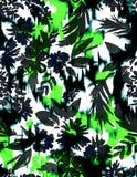 Άνευ ραφής floral τυπωμένη ύλη με Ikat Στοκ Φωτογραφία