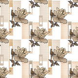 Άνευ ραφής floral υπόβαθρο σύστασης σχεδίων τριαντάφυλλων προσθηκών Στοκ φωτογραφία με δικαίωμα ελεύθερης χρήσης