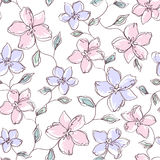 Άνευ ραφής floral υπόβαθρο Στοκ Εικόνες
