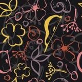Άνευ ραφής floral χρωματισμένο σχέδιο διανυσματική απεικόνιση