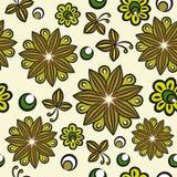 Άνευ ραφής floral hand-drawn πρότυπο διανυσματική απεικόνιση