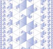 Άνευ ραφής fractal πρότυπο Στοκ Εικόνες