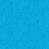 Άνευ ραφής hand-drawn πρότυπο κυμάτων, ανασκόπηση κυμάτων Μπορέστε να χρησιμοποιηθείτε για την ταπετσαρία Στοκ Εικόνες