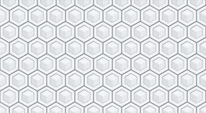 Άνευ ραφής hexagon διανυσματικό υπόβαθρο ανακούφισης Στοκ Εικόνα