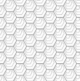 Άνευ ραφής hexagons σχέδιο γεωμετρική σύσταση διανυσματική απεικόνιση