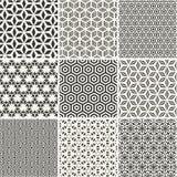 Άνευ ραφής hexagons υπόβαθρα καθορισμένα απεικόνιση αποθεμάτων