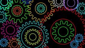 Άνευ ραφής loopable άλφα κανάλι βρόχων ζωτικότητας εργαλείων ή cogwheels 2$ο περιστρεφόμενο απεικόνιση αποθεμάτων