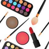 Άνευ ραφής Makeup και καλλυντικά Στοκ φωτογραφία με δικαίωμα ελεύθερης χρήσης