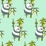 Άνευ ραφής panda στο σχέδιο μπαμπού ελεύθερη απεικόνιση δικαιώματος