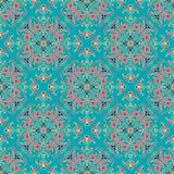 Άνευ ραφής parteern χρώματος mandala σχεδίων χεριών zentangle Ιταλικό majolica ύφος ελεύθερη απεικόνιση δικαιώματος