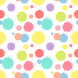 Άνευ ραφής patterm με τη χρωματισμένη σύσταση παφλασμών Στοκ εικόνα με δικαίωμα ελεύθερης χρήσης