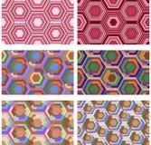 Άνευ ραφής polygonal αφηρημένο σχέδιο Διανυσματικό σύνολο 6 Στοκ Εικόνες