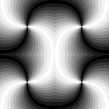 Άνευ ραφής Polygonal μονοχρωματικό σπειροειδές σχέδιο αφηρημένη ανασκόπηση γεωμ&epsil Κατάλληλος για το κλωστοϋφαντουργικό προϊόν Στοκ φωτογραφία με δικαίωμα ελεύθερης χρήσης