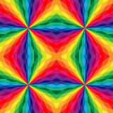Άνευ ραφής polygonal σχέδιο Ουράνιο τόξο γεωμετρικό Στοκ Φωτογραφία