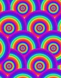 Άνευ ραφής psychedelic σύσταση ουράνιων τόξων διανυσματική απεικόνιση