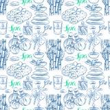 Άνευ ραφής sketch spa εξαρτήματα Στοκ Εικόνες