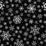 άνευ ραφής snowflake ανασκόπησης Στοκ Φωτογραφίες