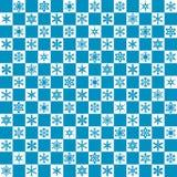 άνευ ραφής snowflake προτύπων Στοκ Φωτογραφία