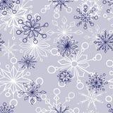 άνευ ραφής snowflake προτύπων Στοκ εικόνες με δικαίωμα ελεύθερης χρήσης